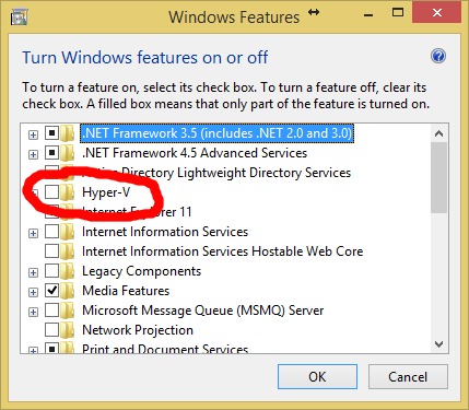 Disable Hyper-V