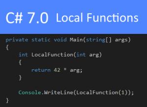 C# 7.0 Local Functions