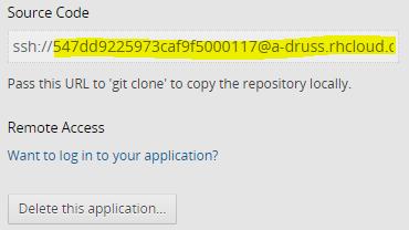 openshift url