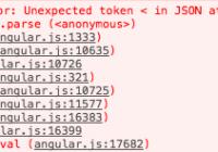 Http failure during parsing